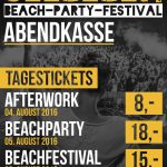 Informationen zur Beachparty (05.08.)